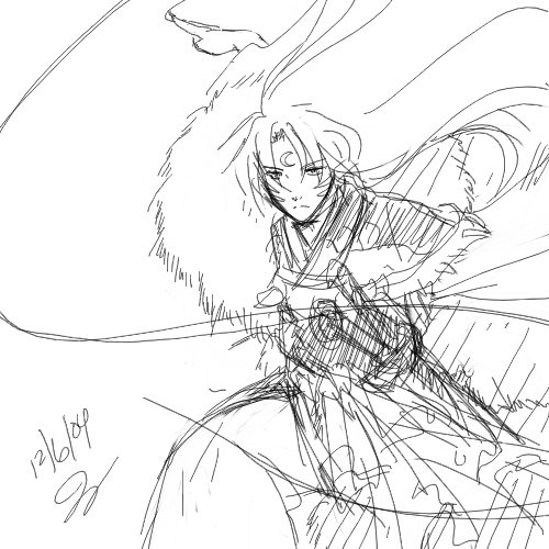 Inuyasha___Action_practice_by_majochan